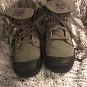 Army Green Canvas Boots